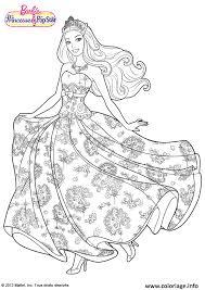 Coloriage Barbie Princesse La Pop Star dessin