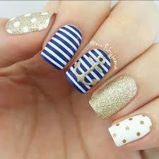 50 cool anchor nail art designs nautical nails navy blue and navy