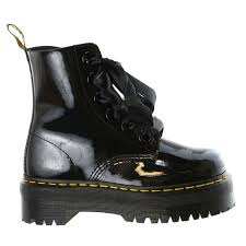 lace up motorcycle boots dr martens molly lace up combat boot shoe womens walmart com