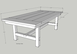 Woodworking Plans For Kitchen Tables by Dad Built This How To Build A Farmhouse Table