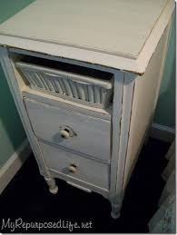 vintage nightstand makeover my repurposed life