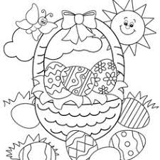coloring pages easter baskets u2013 art valla