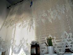 Crochet Kitchen Curtains by Crochet Kitchen Curtain Pattern Crochet Kitchen Curtains