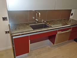 Open Area Under Sink For Seating Or Wheelchair Access - Kitchen sink area