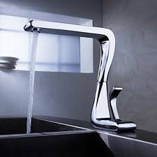 contemporary solid brass kitchen faucet chrome finish - Kitchen Faucets Contemporary