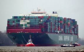 largest ship in the world world s biggest ship docks in hamburg the local