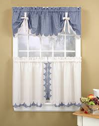 kitchen window treatment ideas lovely piece handmade kitchen curtain ideas with chic ribbon and blue gray fabric color windows treatment decors
