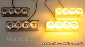 Led Emergency Dash Lights 4x4 Amber 16 Led Hazard Warning 12v Headliner Emergency Strobe
