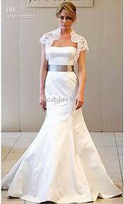 lace wedding dress with jacket satin trumpet wedding dress gown jacket lace bolero 8857