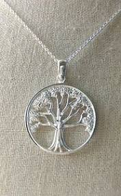 tree of yggdrasil celtic family tree pendant necklace 925