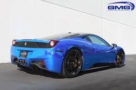 chrome ferrari 2012 ferrari 458 w novitec lowering springs and blue chrome vinyl