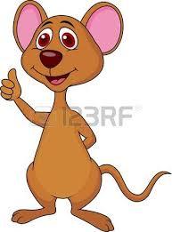 bande dessinée de souris mignon clip art libres de droits