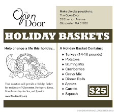 open door baskets to help feed the needy