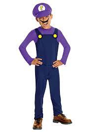 mario costumes for halloween amazon com waluigi child costume size medium toys u0026 games