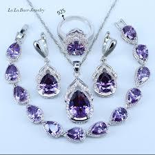 Best Wedding Present Online Shop L U0026b Best Wedding Present Purple Crystal White Zircon