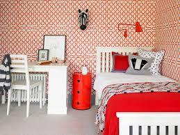 orange zebra bedding kids contemporary with red nightstand vinyl