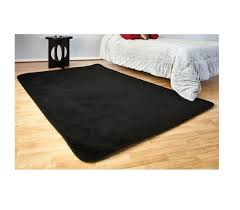 microfiber rug black is an affordably cheap rug option