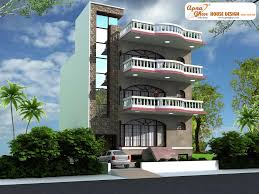 4 bedroom modern triplex 3 floor house design area 162 sq mts