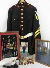 usmc dress blues with navy ratings insignia groupings u s