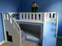 Bunk Beds With Slide And Stairs Painted Bunk Bed With Slide And Stairs Wooden Bunk