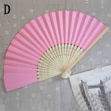 held paper fans summer paper fans pocket folding bamboo fan wedding
