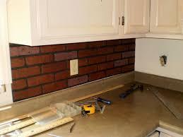 brick tile kitchen backsplash kitchen brick backsplash ideas painting faux brick backsplash
