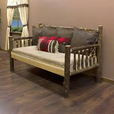 rustic log daybed for the log cabin and rustic lodge home