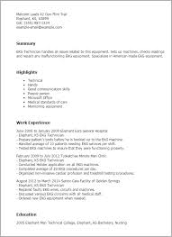 Example Resume For Waitress by Professional Ekg Technician Templates To Showcase Your Talent