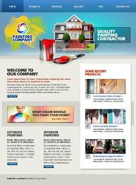 painting company website template 20503