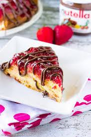strawberry upside down cake recipe strawberry cakes nutella