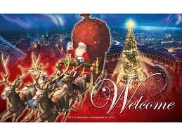 the polar express u0027santa in sleigh u0027 welcome mat