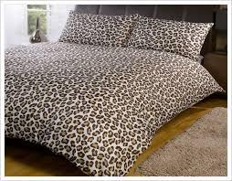 Leopard Print Duvet Leopard Print Duvet Cover Set Home Design Ideas