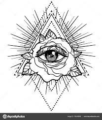 rosicrucianism symbol blackwork flash all seeing eye c