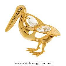 ornament gold pelican ornament or desk model swarovskiâ