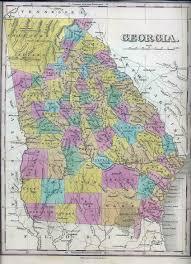 State Of Georgia Map by 1831 Georgia