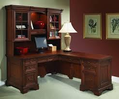 office furniture stunning u shapped desk with hutch glass l