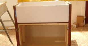 how to install farmhouse sink in base cabinet at maple grove how to build a support structure for a farm