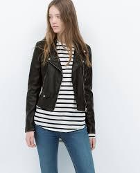 biker coat faux leather biker jacket view all jackets woman zara united