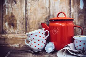 vintage kitchen decor vintage kitchen decor red enamel coffee pot and cups with polka