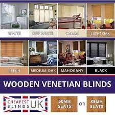 Made To Measure Venetian Blinds Wooden Wood Wooden Venetian Blinds Made To Measure 35mm Or 50mm Solid