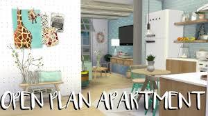 plan apartment the sims 4 speed build open plan apartment cc list youtube