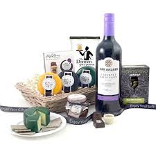 Wine And Cheese Gifts Cheese And Wine Hampers Red Wine And Savouries Gift Baskets With