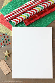 wrapping paper christmas tree canvas with photo ornaments young