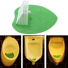 toilet football soccer shooting mat goal style urinal screens