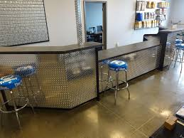 Concrete Reception Desk Hand Made Industrial Reception Desk Or Sales Counter By