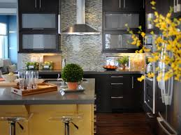 backsplash tiles for dark cabinets blue paint colors in kitchen with dark cabinets and mosaic tile