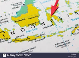 Continent Of Asia Map by Red Arrow Pointing Indonesia On The Map Of Asia Continent Stock