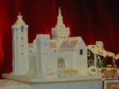 gingerbread castle template holiday food pinterest