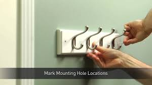 how to install a hook rail for coats u0026 hats youtube