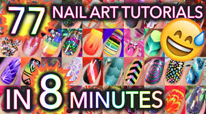 77 nail art tutorials in 8 minutes youtube